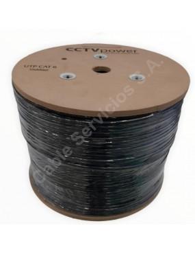 Cable  UTP CAT6  aleación CCA  para CCTV negro - 305 mts