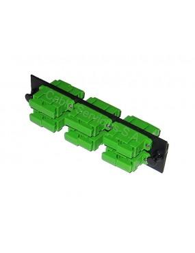 Panel adaptador de fibra óptica dúplex  6 adaptadores para conectores SC / APC