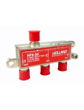 Splitter de 3 salidas para satélite  con circuito de diodo HFS-3D