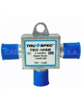 Acoplador direccional   domiciliario tipo T con derivación (tap) de 16 dB de atenuación.