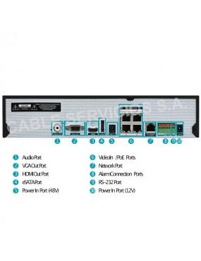 DR-2404P Grabador 4K DirectIP serie 2400 H.265 IDIS