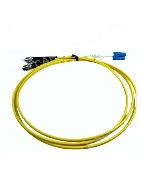 Patch cord de fibra óptica dúplex monomodo 9/125 LC-UPC ST-UPC  LSZH de 1,5  mts chaqueta 2 ó 3 mm