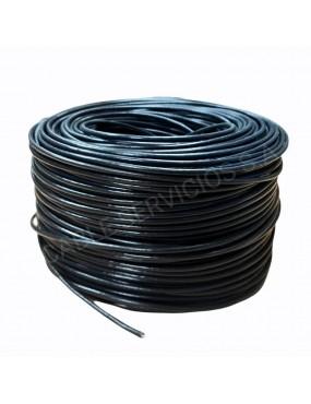 Cable UTP, categoría 5e para CCTV y cámaras IP  26 AWG uso exterior, doble chaqueta por 305 mts