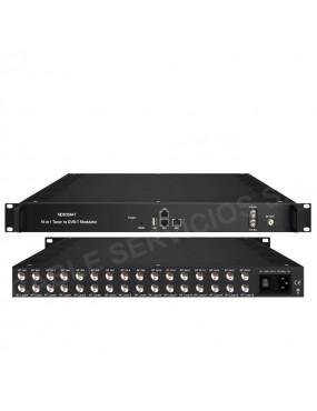 NDS3394T modulador DVB-T  de alto rendimiento 16 en 1