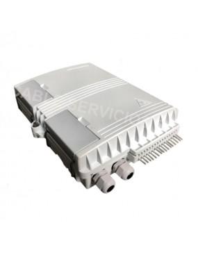 Caja terminal de fibra óptica de 16 puertos SC IP65 montaje en pared o poste