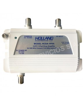 HCDA-1FRA HOLLAND ELECTRONICS Amplificador de  RF con  ganancia ajustable de 1 puerto para CATV