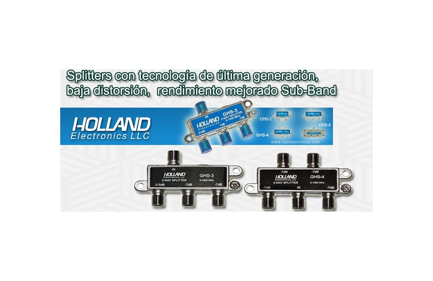 Holland Electronics: Así son los splitters digitales CATV de la serie GHS y GHS-PRO